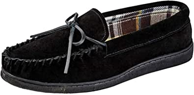 Mens Jo & Joe New England Real Suede Leather Moccasin Slippers Size 7-12