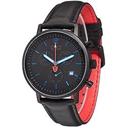 DeTomaso Men's Quartz Watch Chronograph Display and Leather Strap DT1052-V