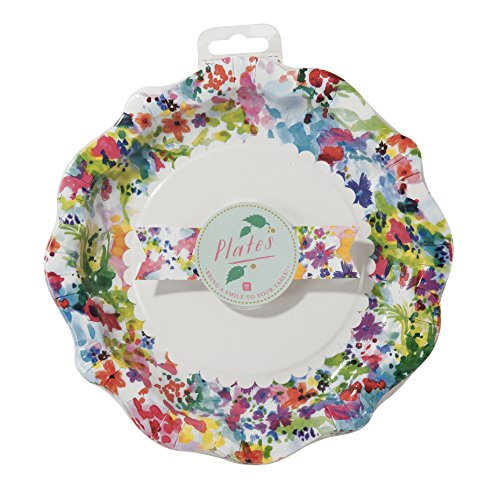 Talking Tables Floral Fiesta; Kleine bunte Pappteller für Teekränzchen, Geburtstage oder Luau (Hawaiparty), Bunt, 22 cm (12 pro Pack in 1 Design)