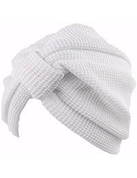 OSISDFWA Moda Mujer Bufanda Gorro La Cabeza De Algodón India Sombrero  Sombrero Headcap Anoto Baotou Blanco 79325c14518