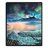 Stillshine 3D Galaxy Flauschig Weiche Kuscheldecken,100% Polyester Dick Decke Tagesdecke Blätter Sofa Decke Für Kinder (Galaxy, 185 x 200 cm)