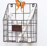 Cesto Portaoggetti Sporco Organizzazione Di Stoccaggio Della Famiglia Ferro Appeso A Parete Griglia Cestino Di Immagazzinaggio Multifunzione Decorazione Della Casa Sporgenza Decorazione Della Casa@Br