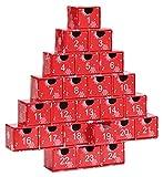 Maulwurf – Geschenke aus der Natur Adventskalender Oh Tannenbaum mit Trommelsteinen, Stein, Rot, 28 x 27 x 4.5 cm