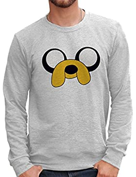 Felpa Girocollo ADVENTURE TIME - JAKE - CARTOON by Mush Dress Your Style
