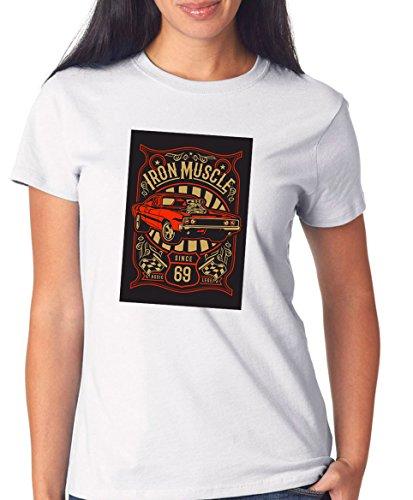 Certified Freak Iron Muscle T-Shirt Girls White S -