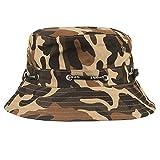 BURFLY Fischerhut für Herren und Damen, Unisex Sport Hüte Einstellbare Cap Camouflage Boonie Hüte nepalesische Kappe Army Mens Fischer Hut (Kaffee)