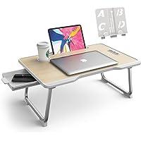 Elekin Table pour Ordinateur Portable Pliante Bureau de Ordinateur Portable avec Poignée Table de Petit-déjeuner avec…