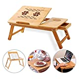 Nishaj Polishe Wooden Laptop Stand for Working at Home and Office   Bamboo