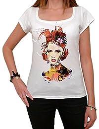 Paper Colored Girl Punk T-shirt Femme,Blanc, t shirt femme,cadeau
