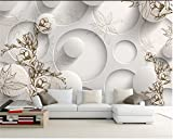 Yosot 3D Tapeten Eigenes Foto Wandbild Non-Woven Magnolia Maple Leaf Tv Hintergrund Wandmalerei Wohnzimmer Tapeten Für Wände 3 D-350Cmx245Cm