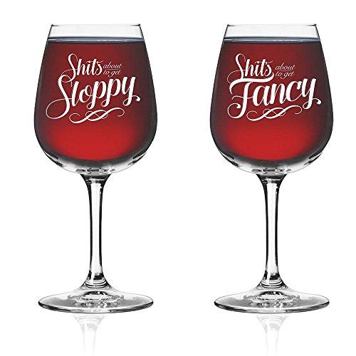 Neuheit Funny Paare Wein Glas (Set von 2)-Seine Hers Drinkware-Newlyweds Hochzeit Jahrestag Brautschmuck Geschenk-Herr und Frau Einzugs Geburtstag Glaswaren-Mann Frau Fancy Royalty uns Gag