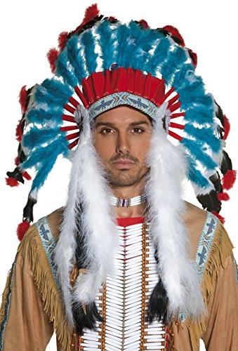 Imagen 3 de Smiffy's - Peluca de indio del oeste para hombre, talla única (196736)