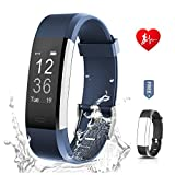 Fitness Tracker Unisex RONTEN Heart Rate Monitor Activity TrackerAPP 14 Training Modes 096 OLED 8 Days Standby Waterproof Smart Wristband Bluetooth Wireless Activity Bracelet With Replacement Strap Fo