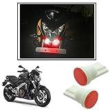 #8: Vheelocityin Car / Bike Ceramic Button Shape Red LED Parking Bulbs (set of 2) For Dominar