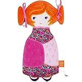Puppe Plüsch Kuscheltier Musical Baby tchikiboum Mylene orange Geschenk Geburt 'Oiseau Bateau