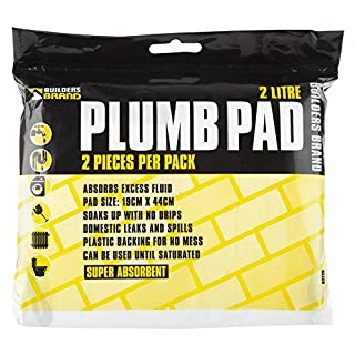 Absorbent Plumb Pad (19x44cm) - 1 Pack (2 Single Pads)