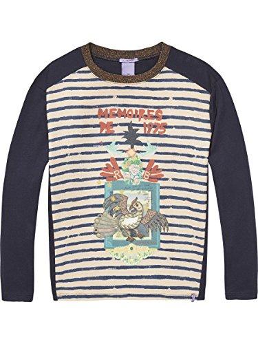 Scotch & Soda R'Belle Mädchen Boxy Photo Bedruckt T-Shirt, Mehrfarbig (Combo P 595), 128 (Explorer L/s Shirt)