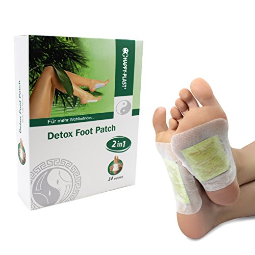 Hodaf Detox Fußpflaster zur Entgiftung, 14 Stück (10x12cm)