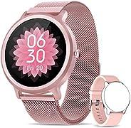 NAIXUES Smartwatch Donna, Orologio Fitness IP68 con 24 Modalità Sportive, Smart Watch Impermeabile Contapassi