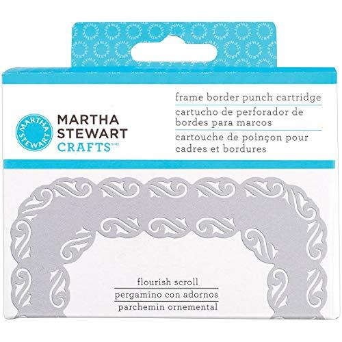 Martha Stewart-Cartuccia per perforatore per bordi in plastica, motivo floreale Scrolls - 2