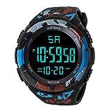 Yesmile RelojesReloj Electrónico de Silicona Hombres de Lujo Analógico Militar Digital Deporte LED Impermeable Reloj de Pulsera HONHX (C)