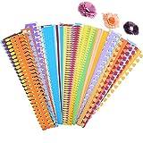 ODETOJOY 8 Muster Blume Papier Quilling Streifen Strips Handwerk machen Papier Blumen Kit für Scrapbooking-40PCS