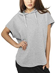 Urban Classics Damen Sweatshirt Ladies Sleeveless Terry Hoody