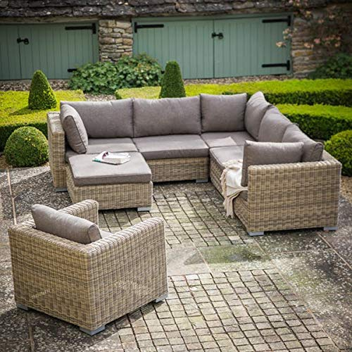 51tA EyvmfL. SS500  - Garden Trading Marden Corner Sofa Set - PE Rattan