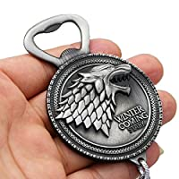 WoloShop Bottle Opener Keyring Game of Thrones Stark Silver silver