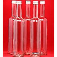 10 x 500 ml bottiglie di vetro vuote con chiusura davuoto BORDO di succo bottiglia con tappo a vite per riempire con 0,5 litri l da liquore aceto da slkfactory