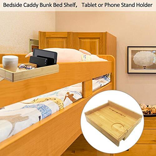 Bambus Holztisch Regal Veranstalter Nachttisch Nacht Lagerregal Holz Caddy Lagerung Regal Telefon Ständer Halter Schwimm Nachttisch (Nachttisch Caddy Veranstalter)