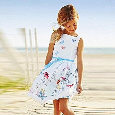 PhilMat Mini vestido vestido lindo bebé embroma partido tutú de la princesa de la flor del arco niña niño
