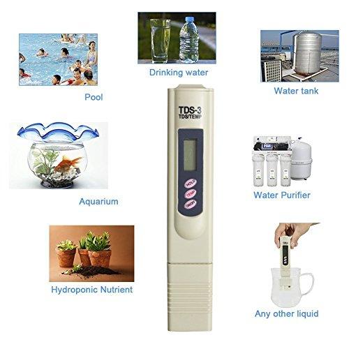 TDS mètre 3 testeur de qualité de l'eau pour culture hydroponique nutriments Level, Ménage l'eau potable, l'eau de piscine, aquarium