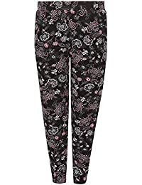 544919fd621 Yours Clothing Women s Plus Size Floral Print Jersey Harem Trousers