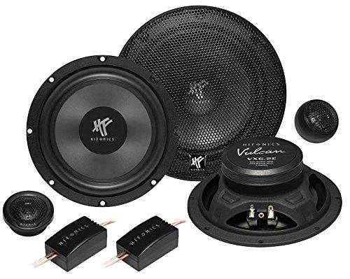Hifonics Haut-parleurs 400 W 16,5 cm vx6.2e kompo avec kit de montage pour Nissan Primera 09/1990-08/2001