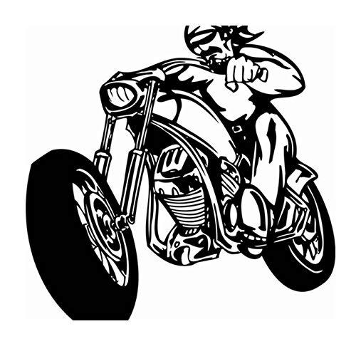 zxddzl Motorrad Aufkleber Fahrzeug Aufkleber Classic Punk Poster Vinyl Wandtattoos Autobike Parede Decor Wandbild Autocycle Sticker-59x58cm