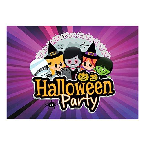 Halloween Party Einladungen-10Stück-Kinder Halloween