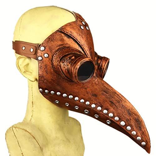 Kostüm Gelben Schnabel - Steellwingsf Steampunk Bird Doctor Pest Maske Langer Schnabel Cosplay Party Halloween Kostüm - Gelb