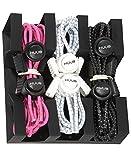 HUUB Lock Laces 3er Pack - Schnellschnür-System - Schnürbänder Schnürsenkel Triathlon (pink,weiß,schwarz)