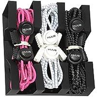 HUUB Lock Laces 3Pack–Sistema de atado–schnürbänder cordones Triatlón, pink,weiß,schwarz