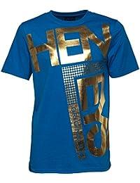 Mens Henleys Fleek T-Shirt Foil Graphic Print Casual Short Sleeve Crew Neck Top