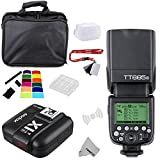 Fomito Godox TT685S TTL 2.4GHz drahtloser Master/externer AutoFlash Speedlite u. X1T-S Übermittler-Auslöser HSS für Sony A77II A7RII A7R A58 A99 ILCE6000L Kameras, HVL-F60M F43M F32M blinkt
