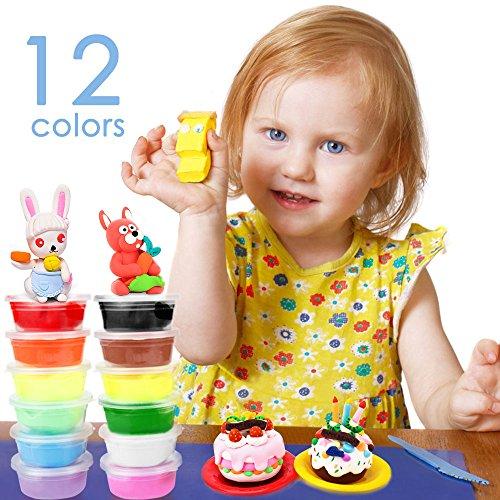 Springknete, Migimi Flummimasse Hüpfknete für Kinder Mitgebsel für Kindergeburtstag, Kinderknete Formen mit lustigen Eigenschaften -12 Farben