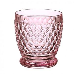 Villeroy & Boch Boston Coloured Bicchiere, Vetro Cristallo, Rosa, 10x19.700000000000003x10.5 cm