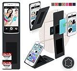 reboon Hülle für Oppo N3 Tasche Cover Case Bumper | Schwarz Leder | Testsieger