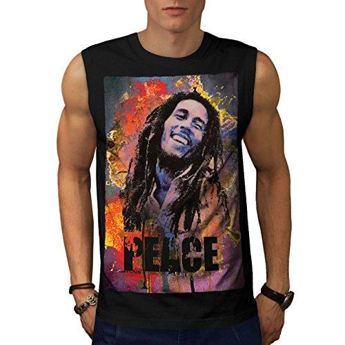 Wellcoda 42 Rasta Bob Marley Mens Sleevless T-Shirt, Peace Athletic Top