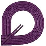 Di Ficchiano-SW-03-violet-120 gewachste runde Schnürsenkel, Schuband, Laces, Durchmesser 2-4 mm für Businessschuhe, Anzugschuhe und Lederschuhe