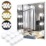 Spiegellicht,Beauty Light,Schminktisch,Schminkspiegel,USB-powered dimmbare Kosmetik Make-up Kosmetikspiegel Lichterketten Lampen mit 10-LED-Lampen Aufkleber für Badezimmer Schlafzimmer Schlafzimmer