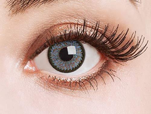 Farbige Kontaktlinsen Blau Ohne Stärke Weiche Natürliche Jahreslinsen Blaue Linsen Farblinsen 0...