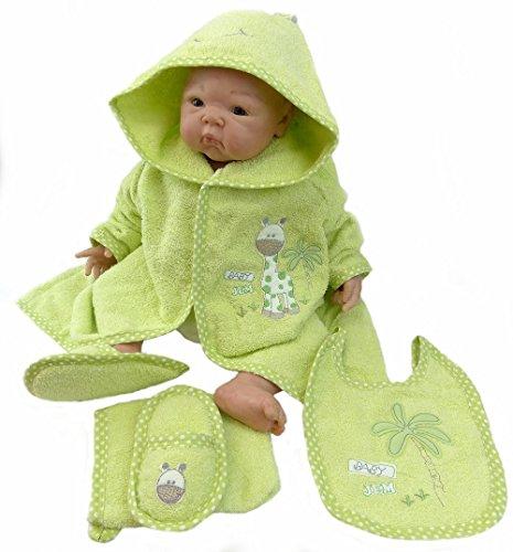 baby-albornoz-rizo-jirafa-con-guantes-manopla-y-babero-unisex-4888ys-material-100-algodon-verde-xxxx